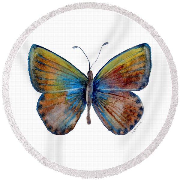 22 Clue Butterfly Round Beach Towel