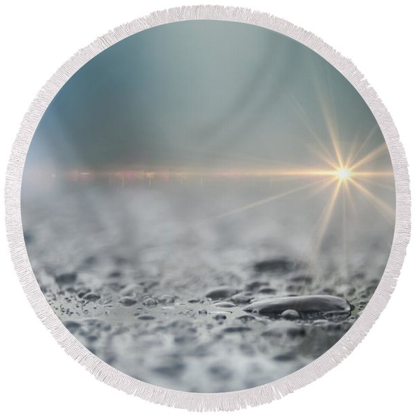 Round Beach Towel featuring the photograph After The Rain by Carolyn Marshall
