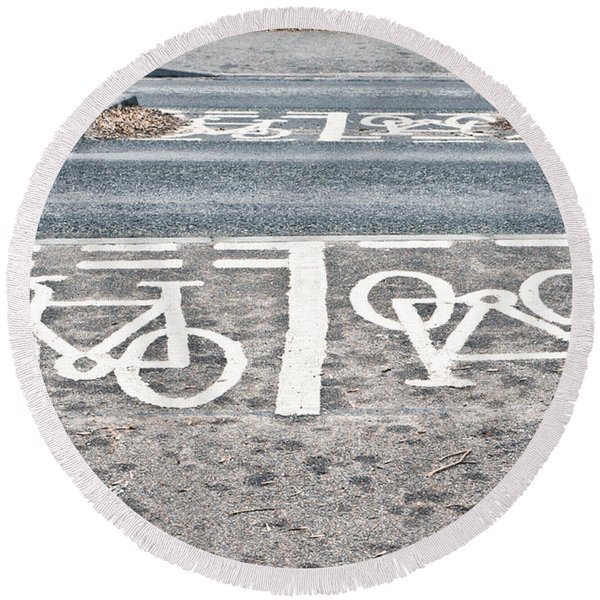 Cycle Path Round Beach Towel