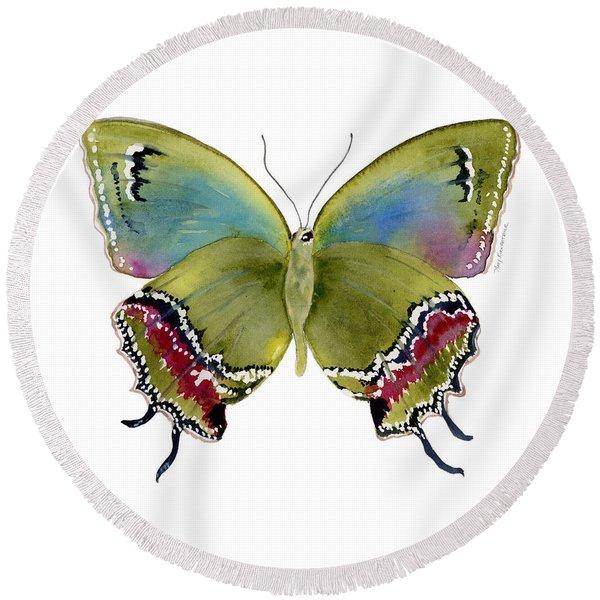 46 Evenus Teresina Butterfly Round Beach Towel