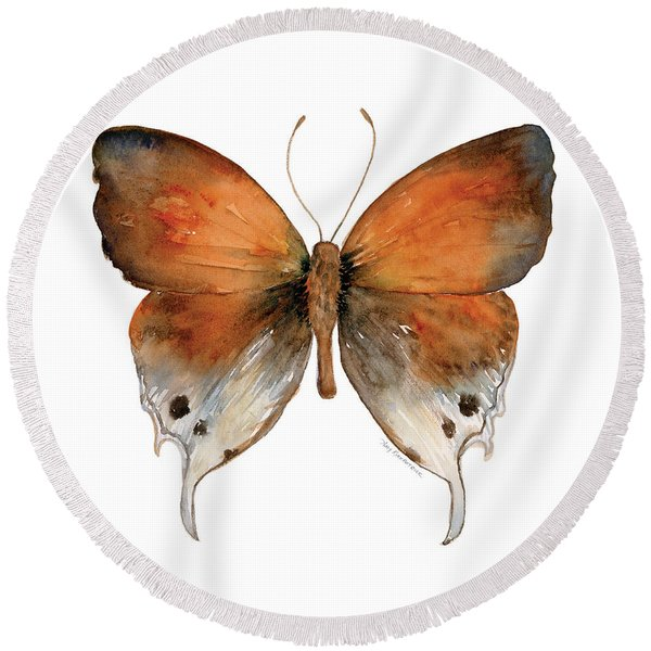 47 Mantoides Gama Butterfly Round Beach Towel