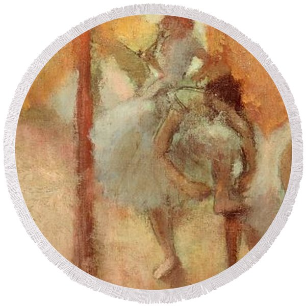 Dancers Round Beach Towel