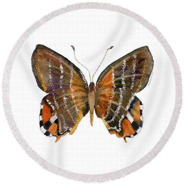 60 Euselasia Butterfly Round Beach Towel