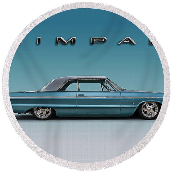 '64 Impala Ss Round Beach Towel