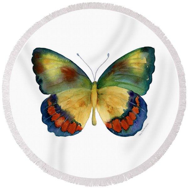67 Bagoe Butterfly Round Beach Towel