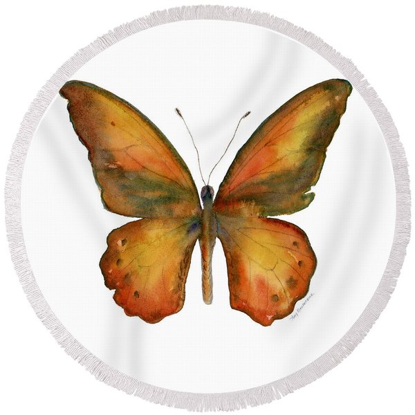 85 Lydius Butterfly Round Beach Towel