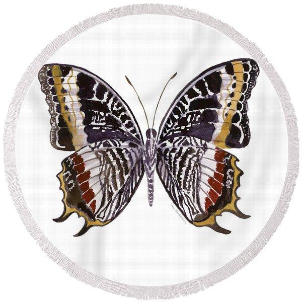 88 Castor Butterfly Round Beach Towel