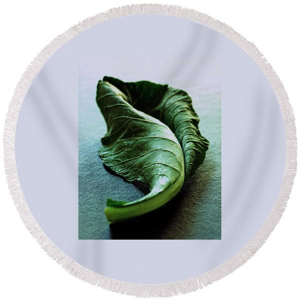 A Collard Leaf Round Beach Towel