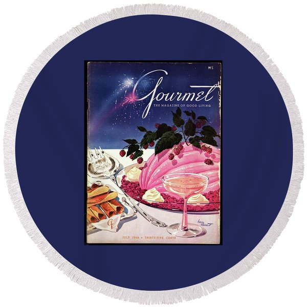 A Gourmet Cover Of Mousse Round Beach Towel