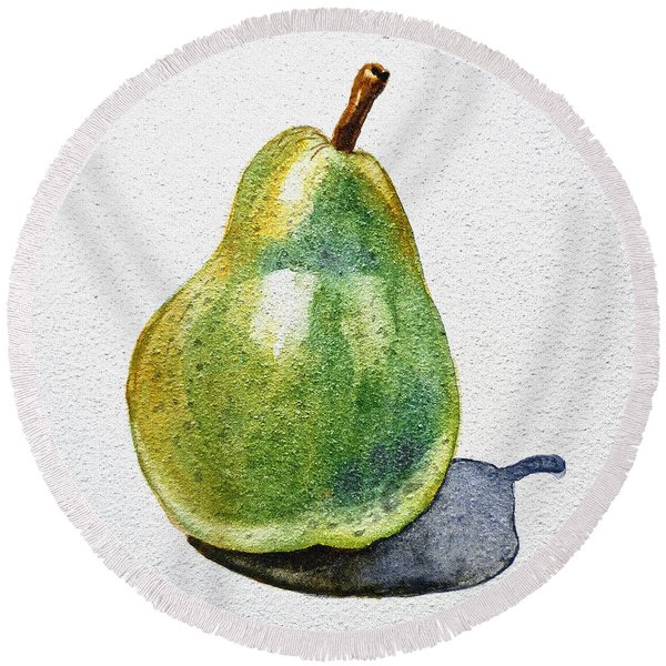 A Pear Round Beach Towel