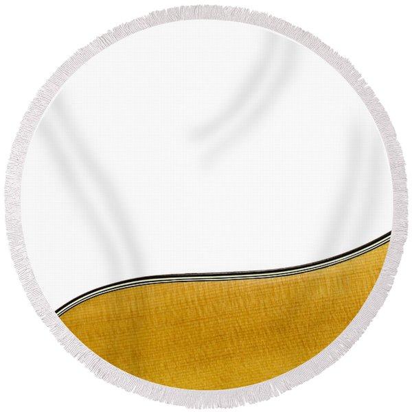 Acoustic Curve Round Beach Towel