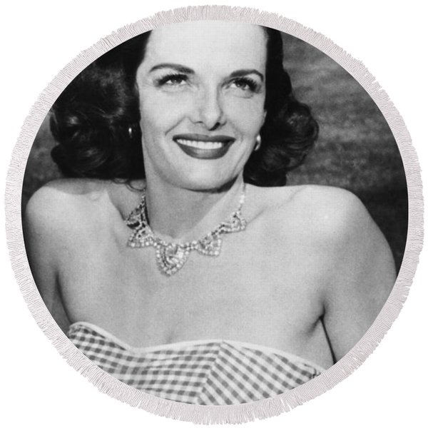 Actress Jane Russell Round Beach Towel