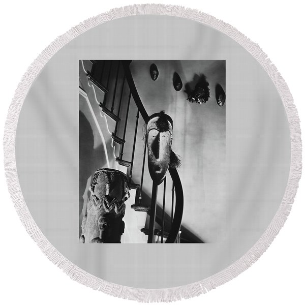 African Masks And Drums In Eugene O'neill's Round Beach Towel