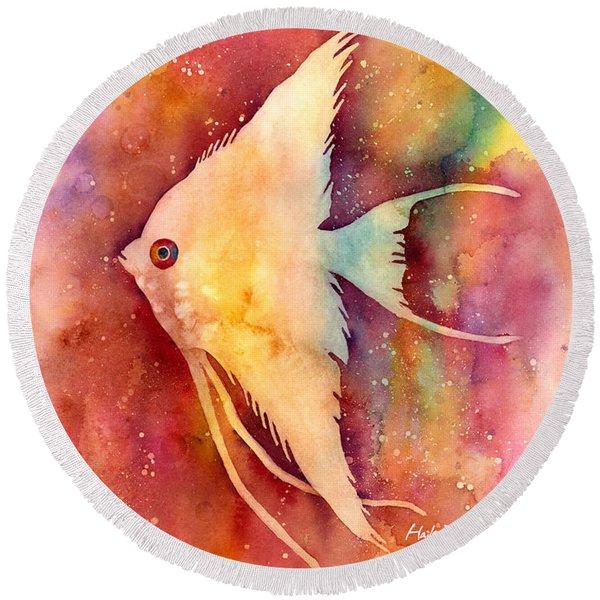 Angelfish II Round Beach Towel