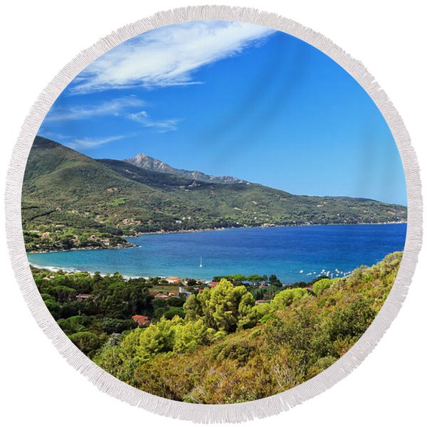Bay Of Biodola - Elba Island. Round Beach Towel