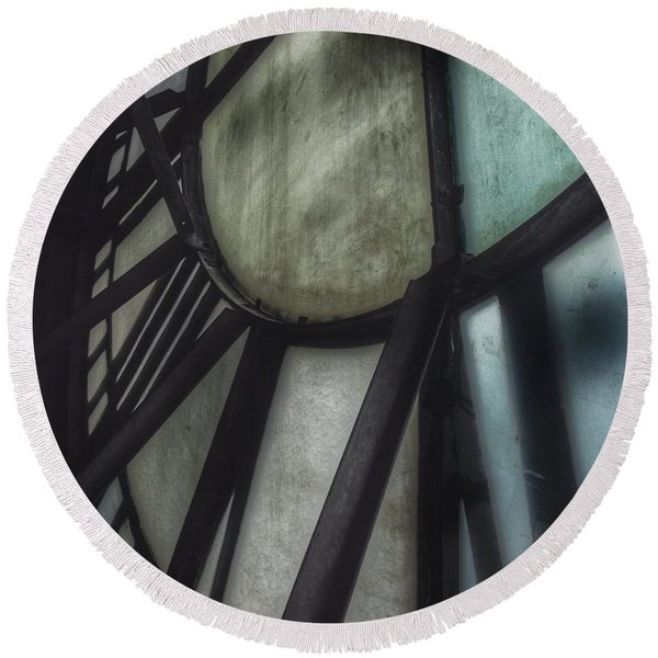 Behind The Clock - Emerson Bromo-seltzer Tower Round Beach Towel