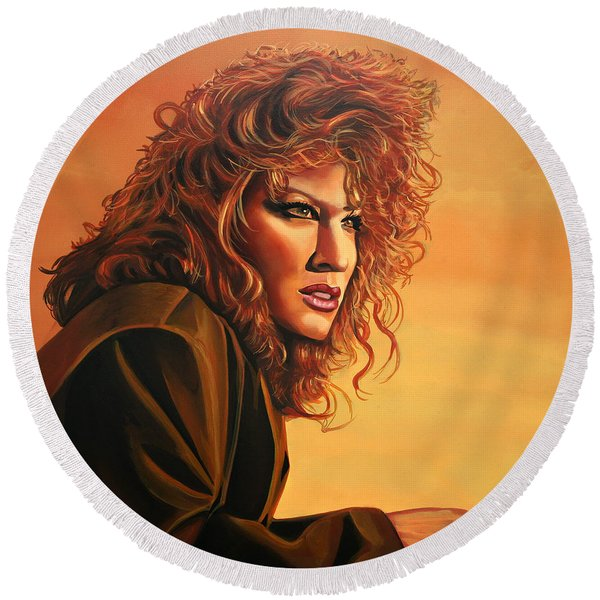 Bette Midler Round Beach Towel