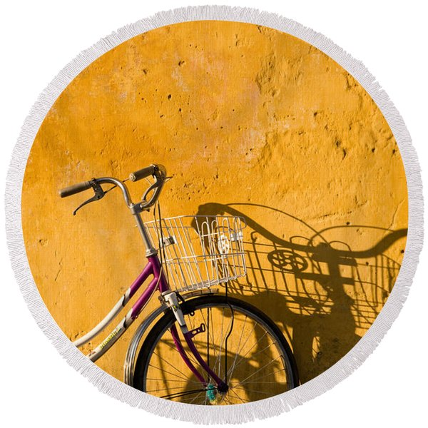 Bicycle 07 Round Beach Towel