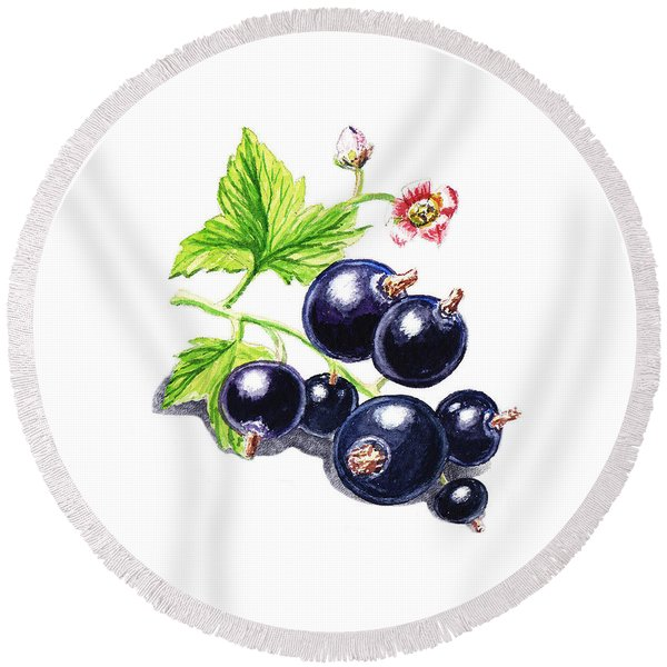 Blackcurrant New Design One Round Beach Towel