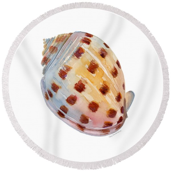 Bonnet Shell Round Beach Towel