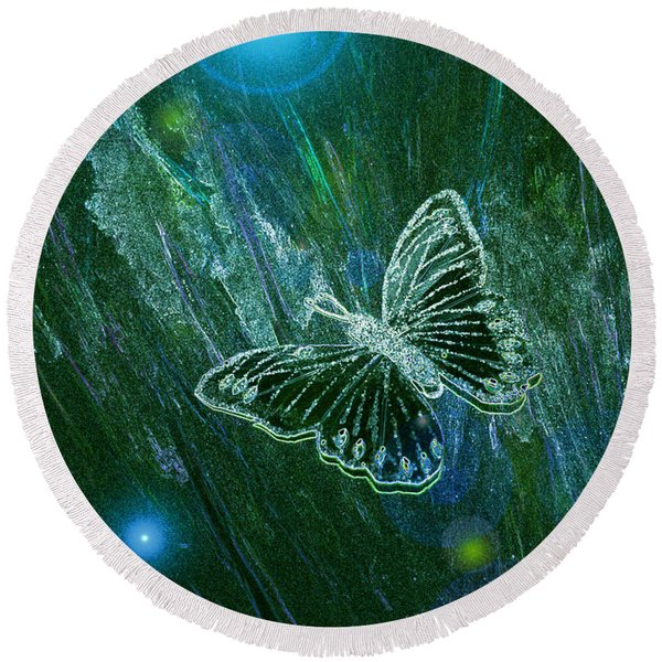Butterfly Magic By Jrr Round Beach Towel
