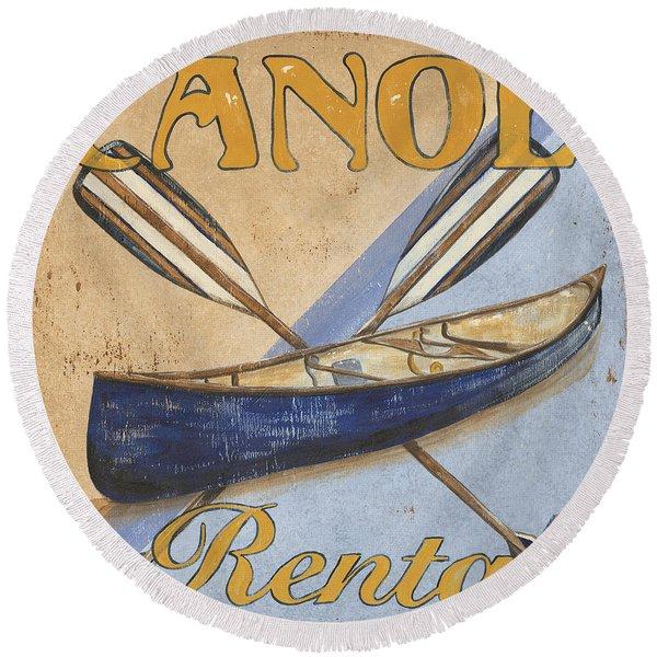 Canoe Rentals Round Beach Towel