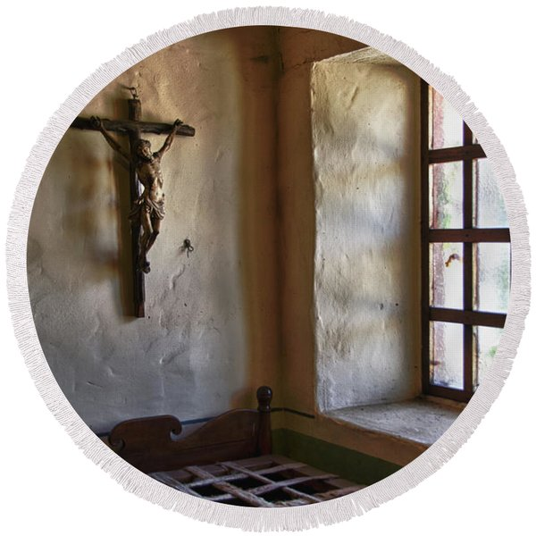 Carmel Mission 4 Round Beach Towel