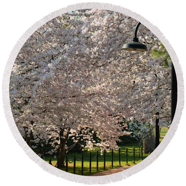 Cherry Blossoms 2013 - 060 Round Beach Towel