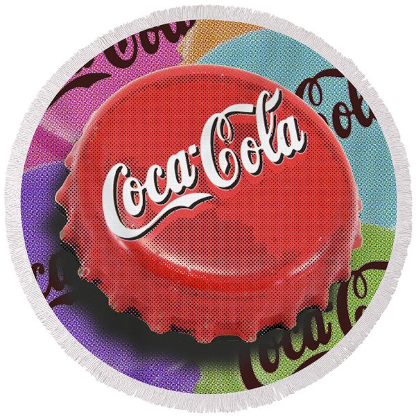 Coca-cola Cap Round Beach Towel