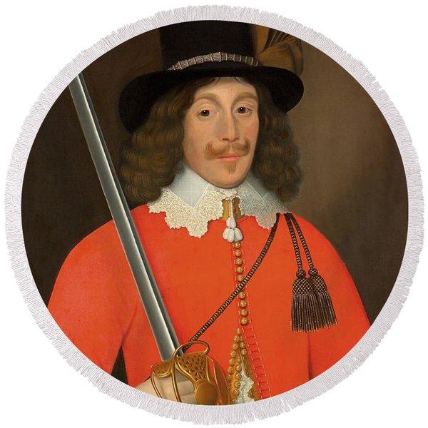 Colonel John Hutchinson, C.1643 Round Beach Towel