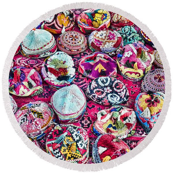 Colorful... Round Beach Towel