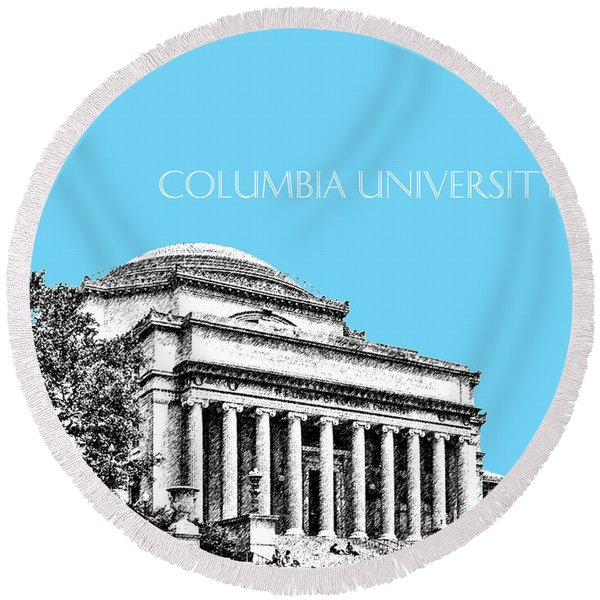 Columbia University - Sky Blue Round Beach Towel