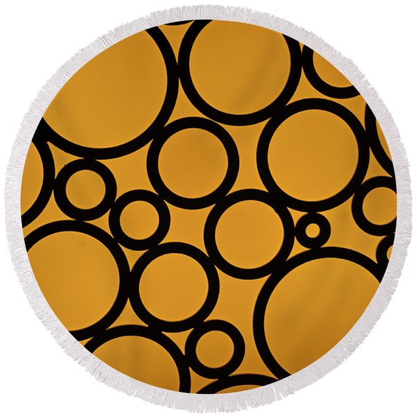 Come Full Circle Round Beach Towel
