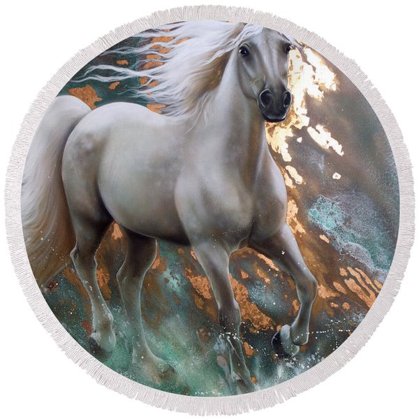 Copper Sundancer - Horse Round Beach Towel