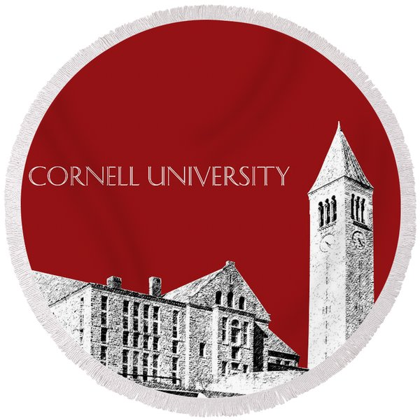 Cornell University - Dark Red Round Beach Towel