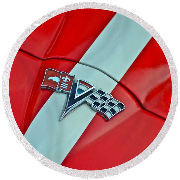 Corvette Round Beach Towel