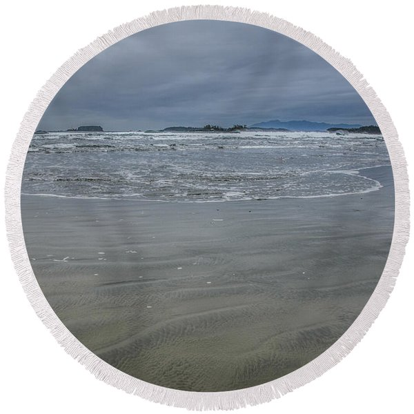 Cox Bay Late Afternoon  Round Beach Towel
