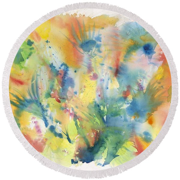 Creative Expression Round Beach Towel