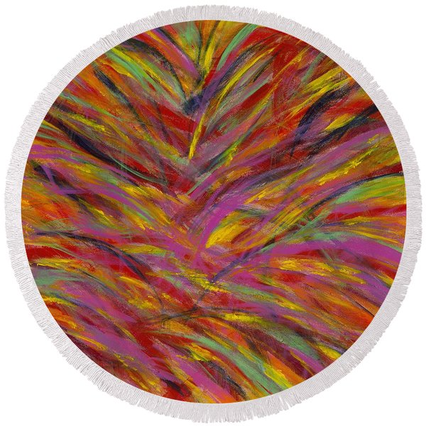 Desert Blossoms Round Beach Towel