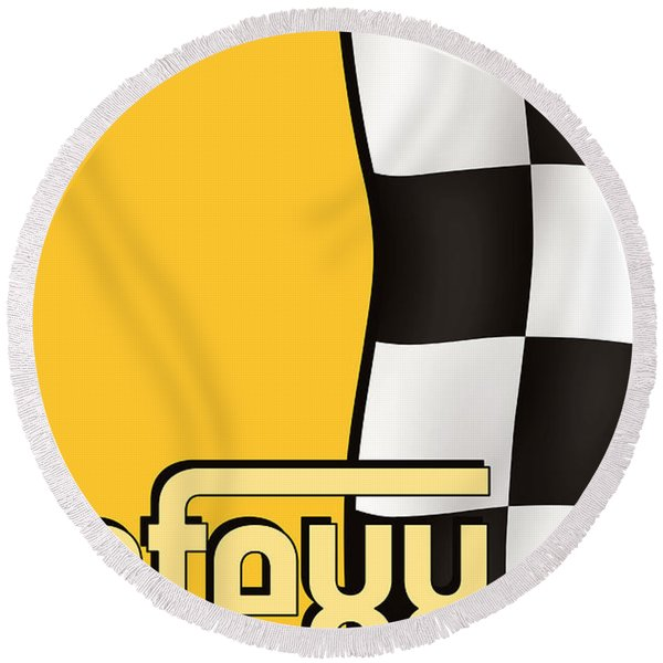 Efexx Grand Prix 1967 Round Beach Towel