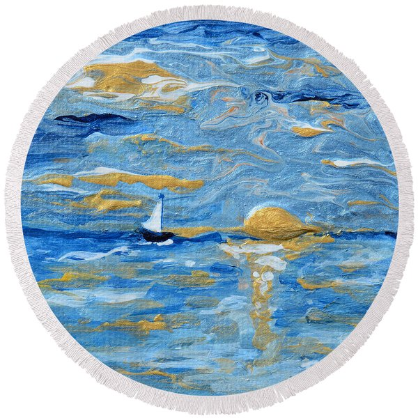 End Of The Storm Round Beach Towel