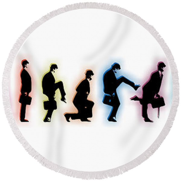 Evolution Round Beach Towel
