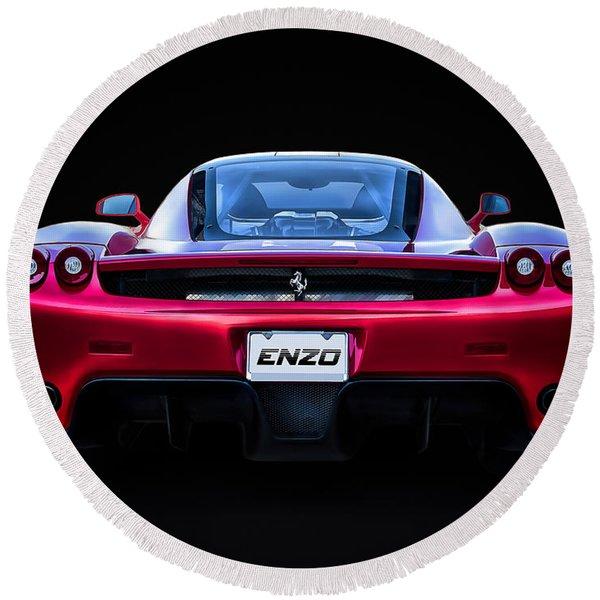 Exotic Ferrari Enzo Round Beach Towel