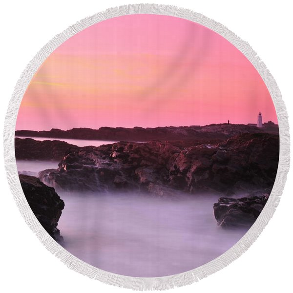 Fine Art Water 11 Round Beach Towel