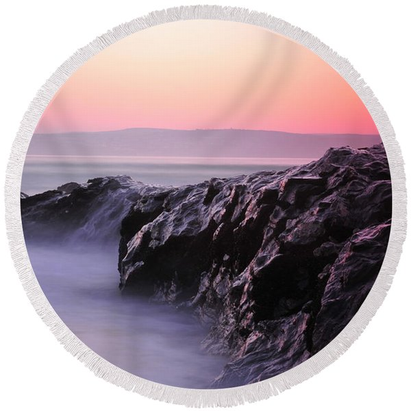 Fine Art Water 8 Round Beach Towel