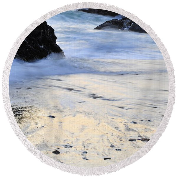 Fine Art Water Round Beach Towel