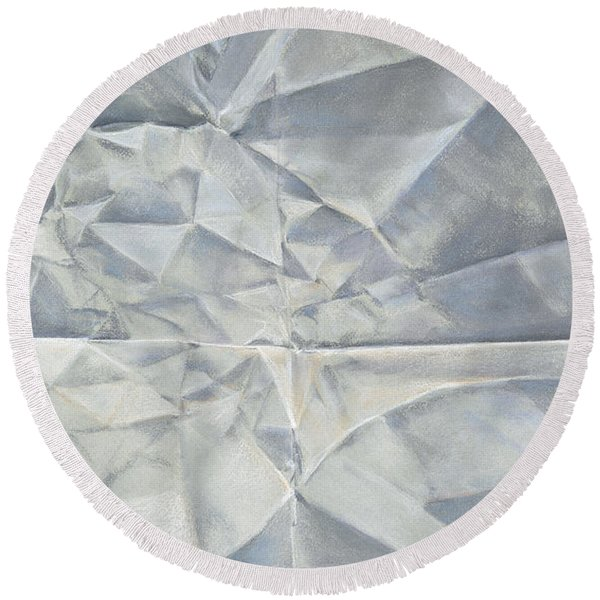 Folded Paper Round Beach Towel