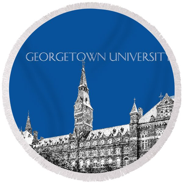 Georgetown University - Royal Blue Round Beach Towel