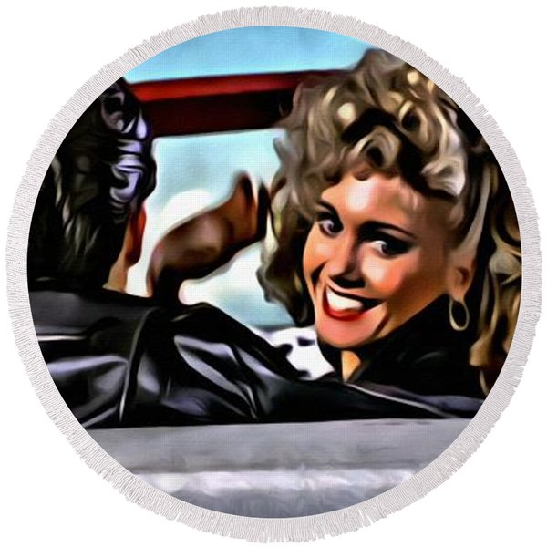 Grease Round Beach Towel
