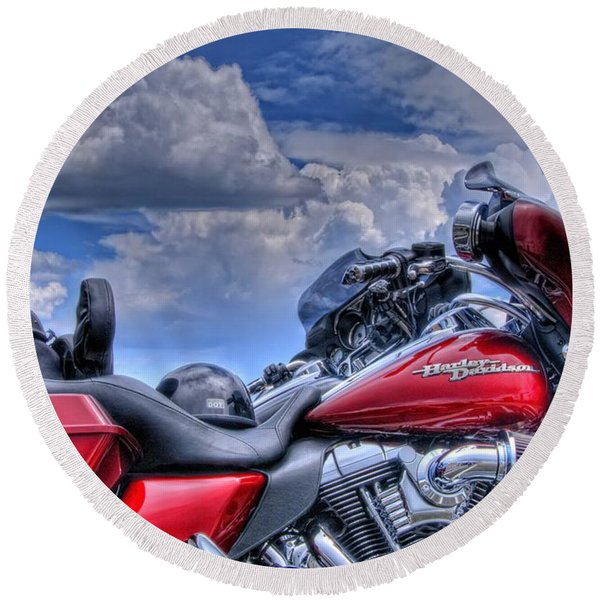 Harley Round Beach Towel